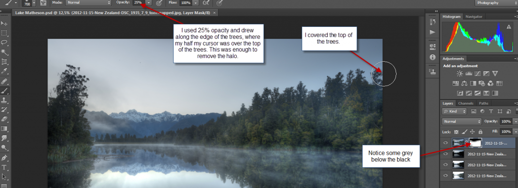 PS - step 8 - draw grey edge on trees