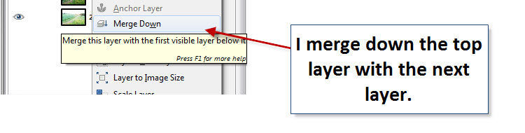 Step 09 - Gimp - Merge down layers