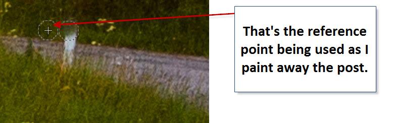 Step 18 - Gimp - Delete Road Side post showing