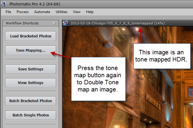 Step 2 Double tone mapping