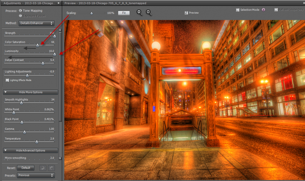 Step 3 double tone mapping