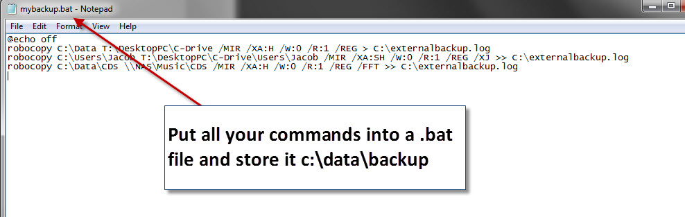 Backup script using Robocopy
