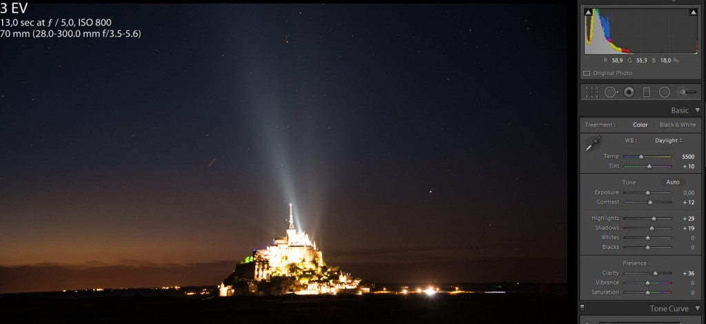 Mont Saint Michel from a distance - Star shot