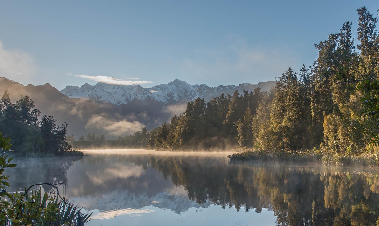 New Zealand - Lake Matheson at Sunrise - HDR step 1