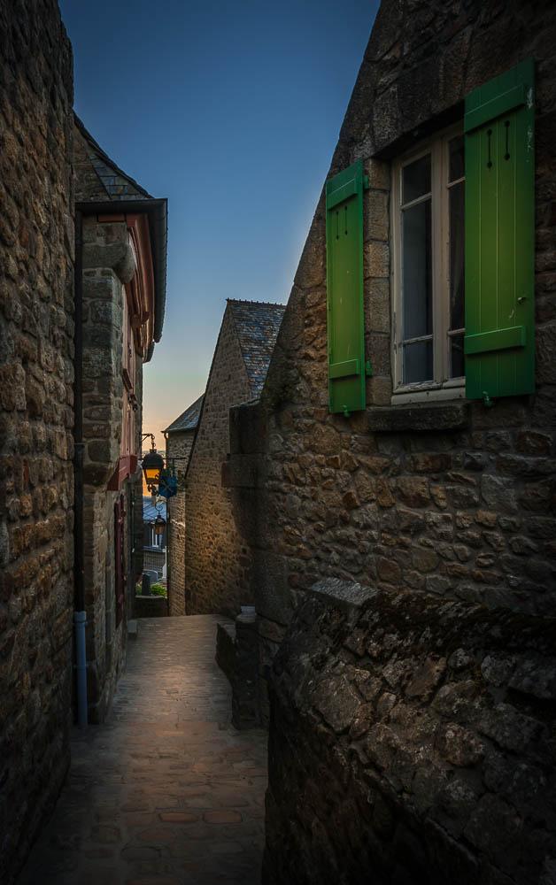 France - Deserted Alley in Mont Saint Michel-2