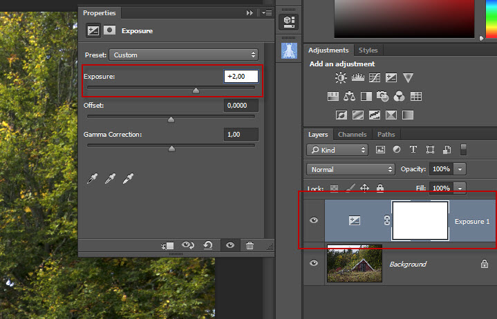 Step 14 - Photoshop exposure layer