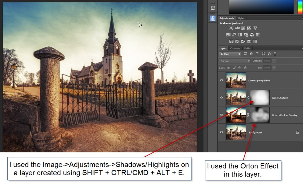 Swedish church Photoshop in changes