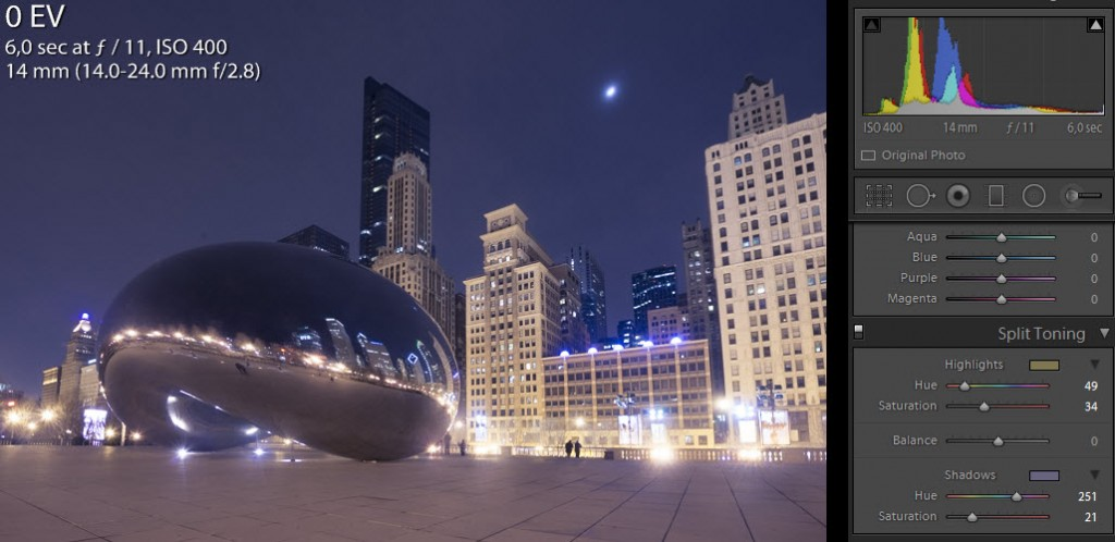 The bean step 2 - Split toning