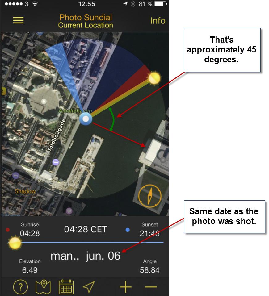 A sundial app