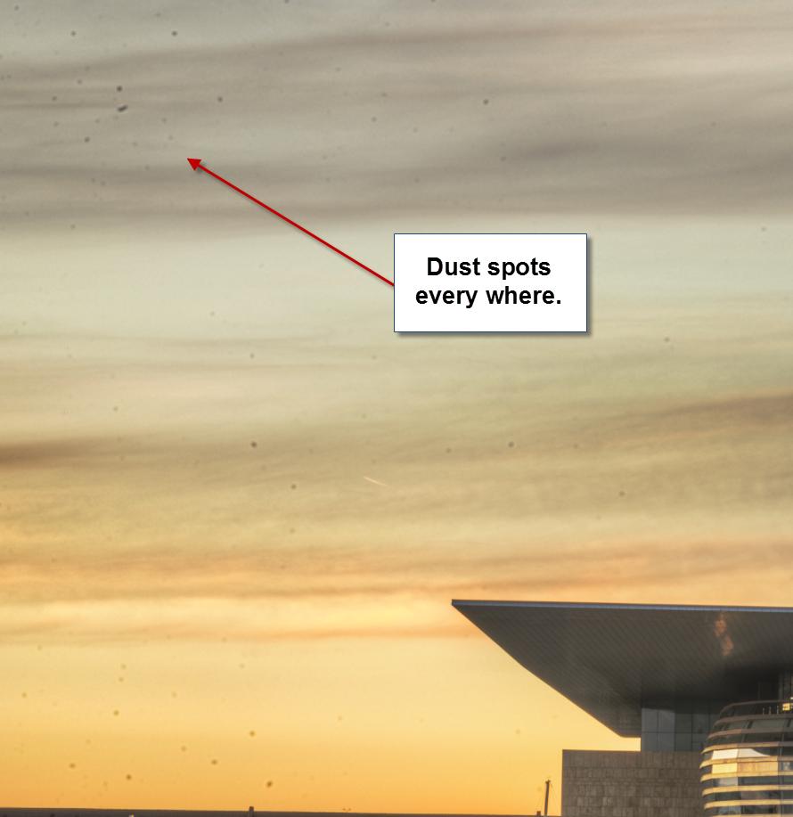 Dust spots - sundial