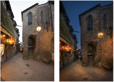 Mont Saint Michel before and after