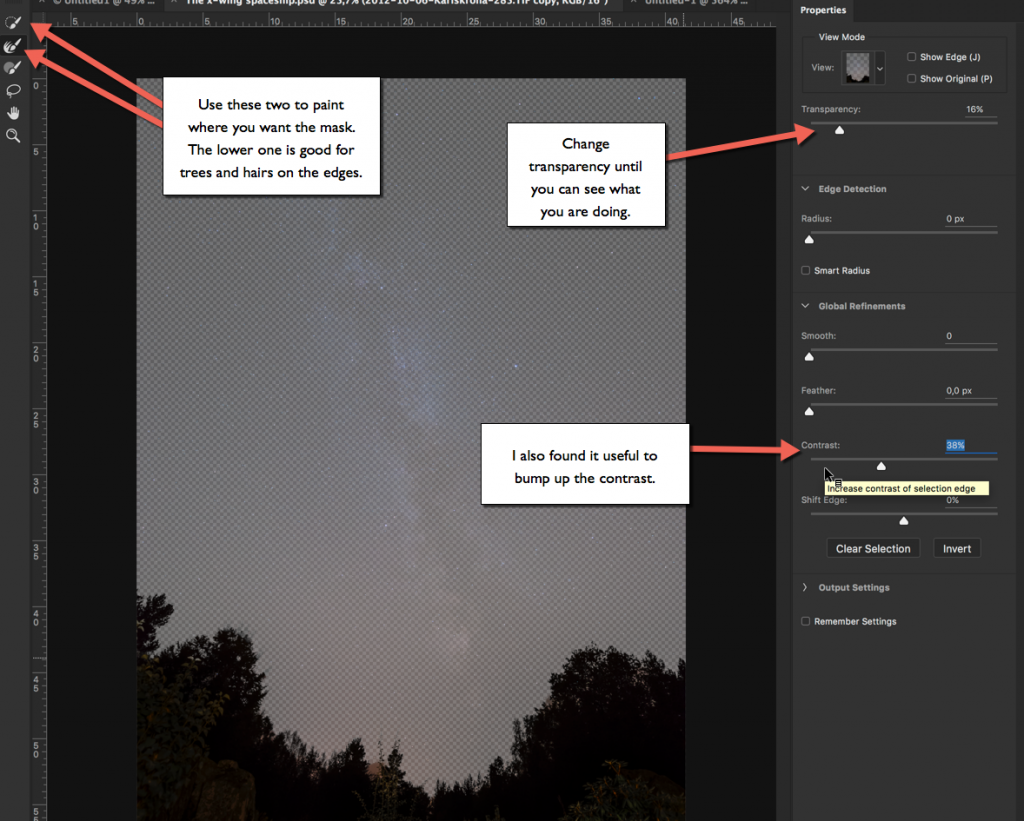 Photoshop new Select and Mask tool'