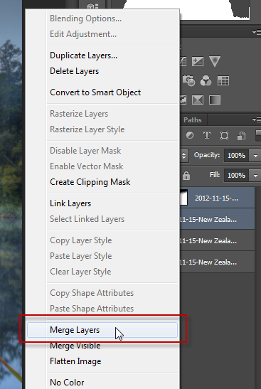 PS - step 11 - Merge layers