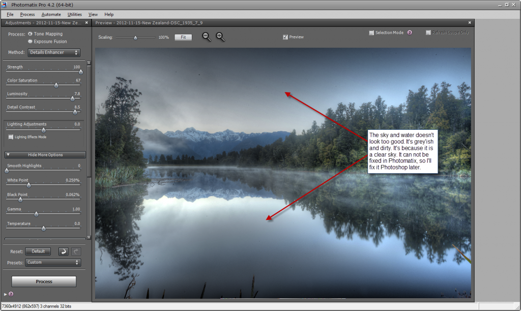 Photomatix default settings - step 4