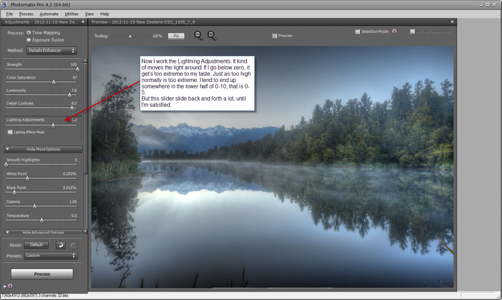 Photomatix default settings - step 5