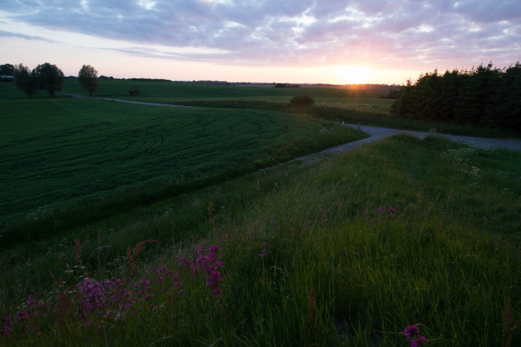 Denmark - Sunset from the old mound
