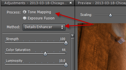 Step 1 Single tone mapping
