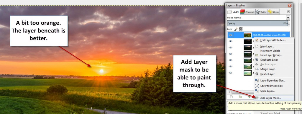 Step 11 - Gimp - One more layer mask