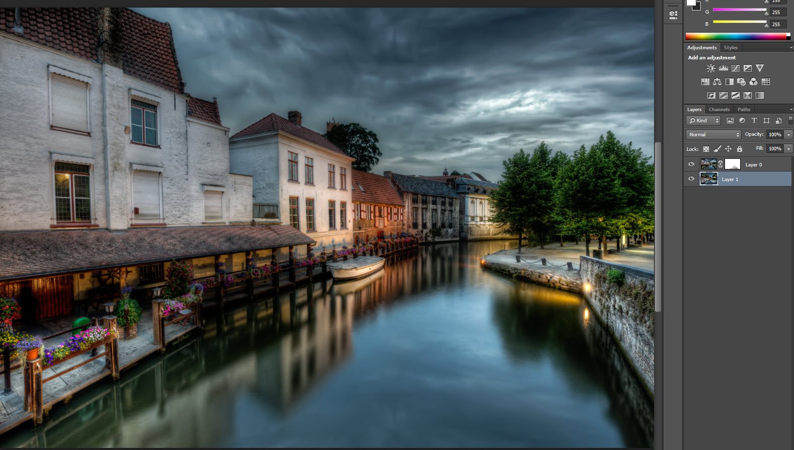 Canal in Brugge - final result