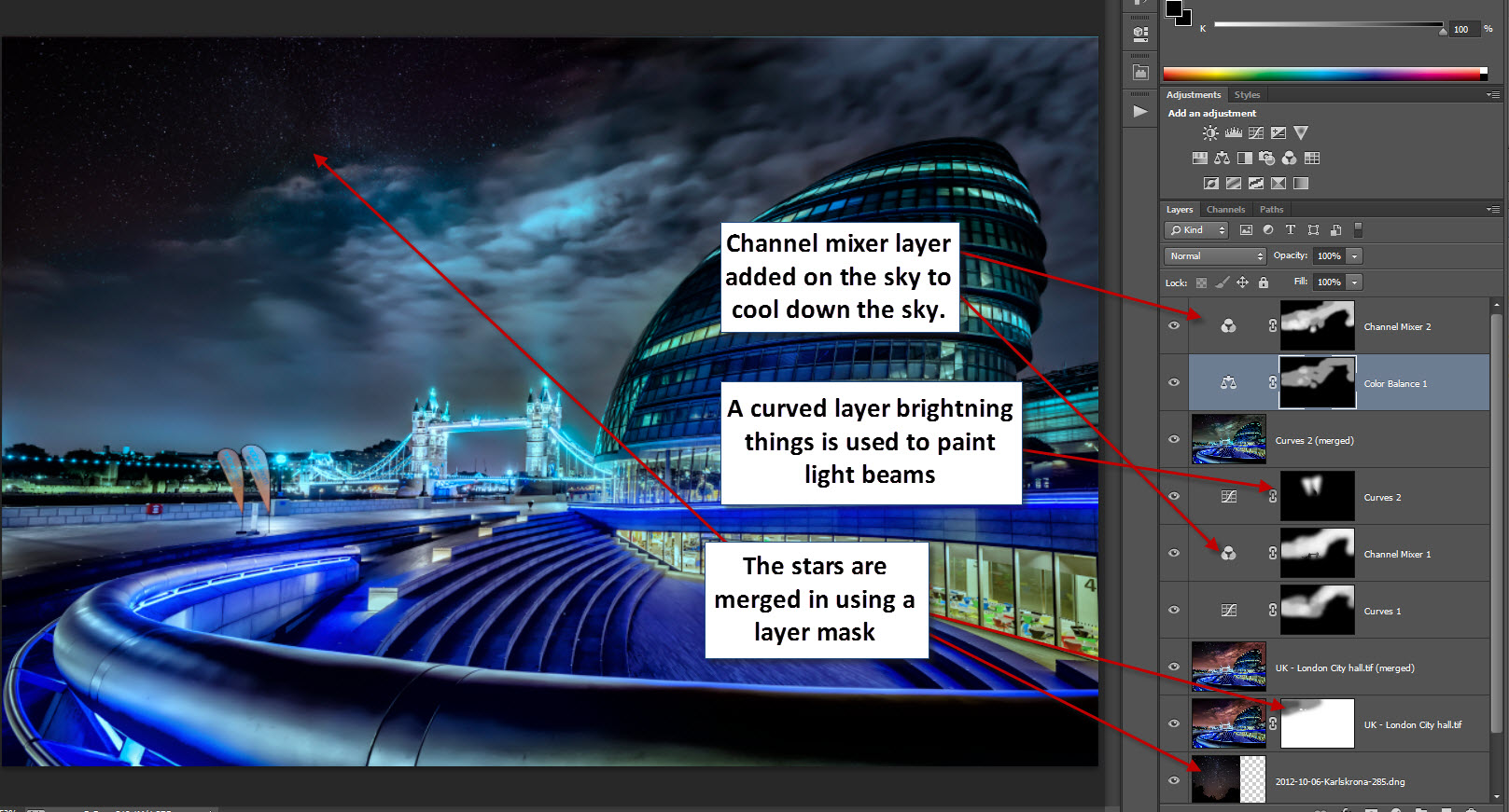 UK - City hall and london tower bridge step 2