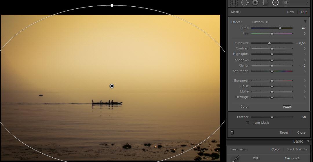 Denmark - Rowing in the mist radial