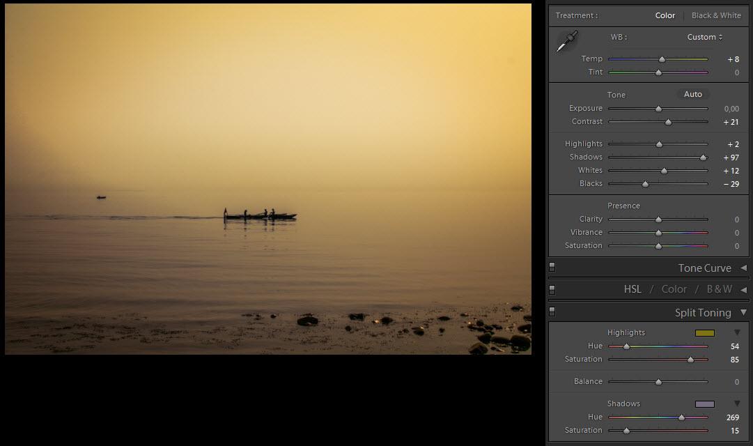 Denmark - Rowing in the mist settings