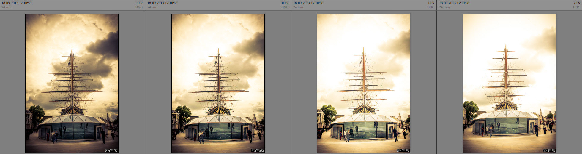 Zenith Cutty Sark exposures