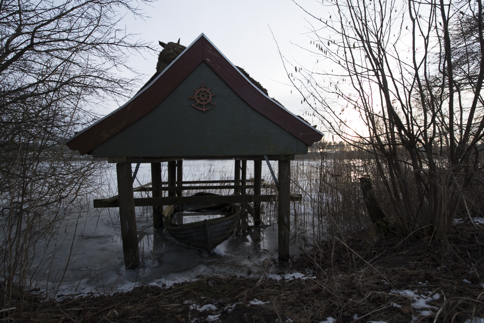 Bastrup lake boat house